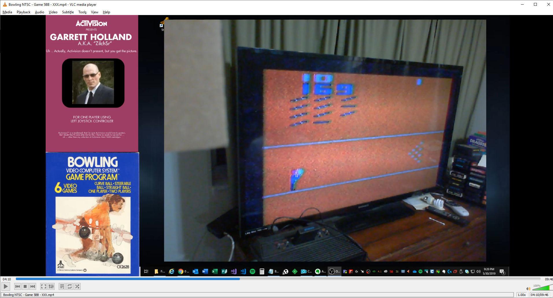 ZilchSr: Bowling: Game 5 (Atari 2600 Novice/B) 169 points on 2019-05-30 21:43:39