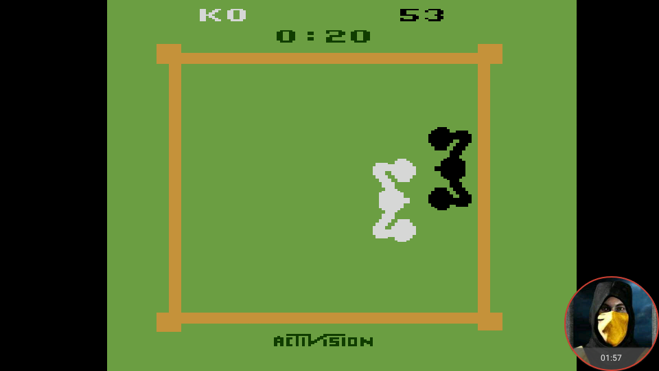 omargeddon: Boxing: Game 1AA [Point Difference at Time Complete] (Atari 2600 Emulated) 47 points on 2018-02-18 09:51:26