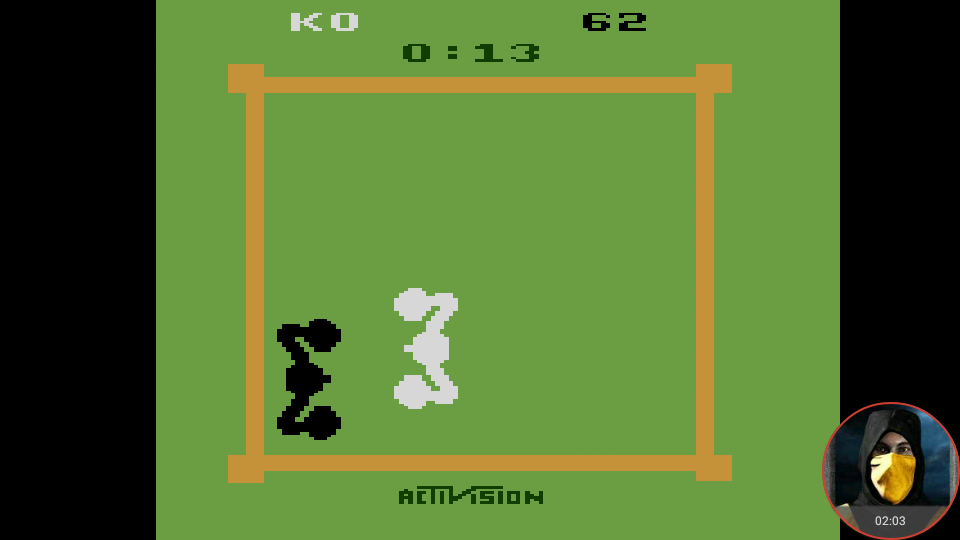 omargeddon: Boxing: Game 1AB [Point Difference at Time Complete] (Atari 2600 Emulated) 38 points on 2018-02-18 10:45:22