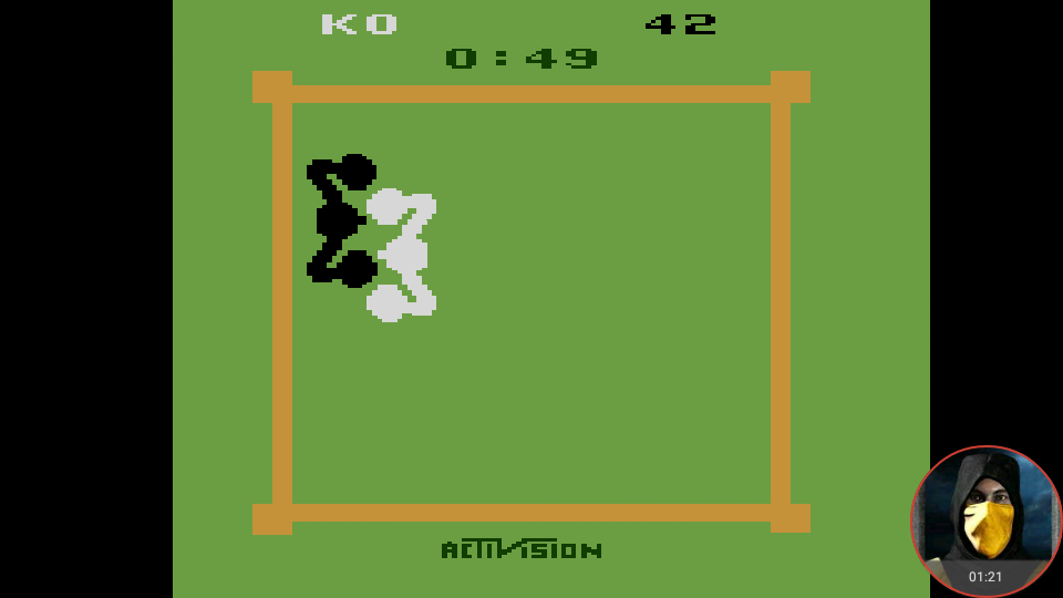omargeddon: Boxing: Game 1BA [Point Difference at Time Complete] (Atari 2600 Emulated) 58 points on 2018-02-18 10:46:23
