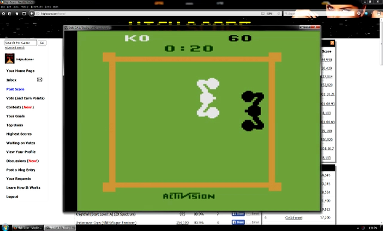 OriginalGamer: Boxing: Game 1BB [Point Difference at Time Complete] (Atari 2600 Emulated) 40 points on 2018-01-07 04:28:09