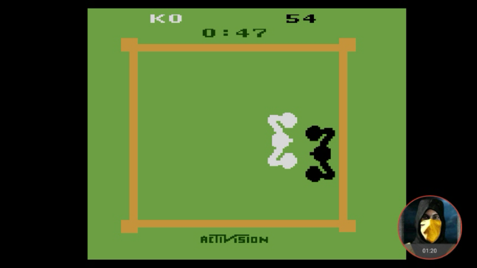 omargeddon: Boxing: Game 1BB [Point Difference at Time Complete] (Atari 2600 Emulated) 46 points on 2018-02-18 10:05:51