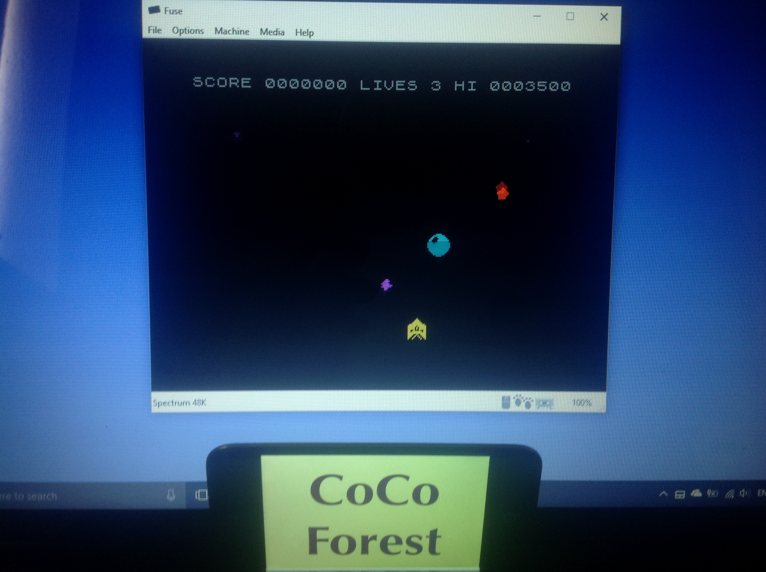CoCoForest: Brad Blasts the Galactic Barbarians (ZX Spectrum Emulated) 3,500 points on 2018-01-16 07:18:34