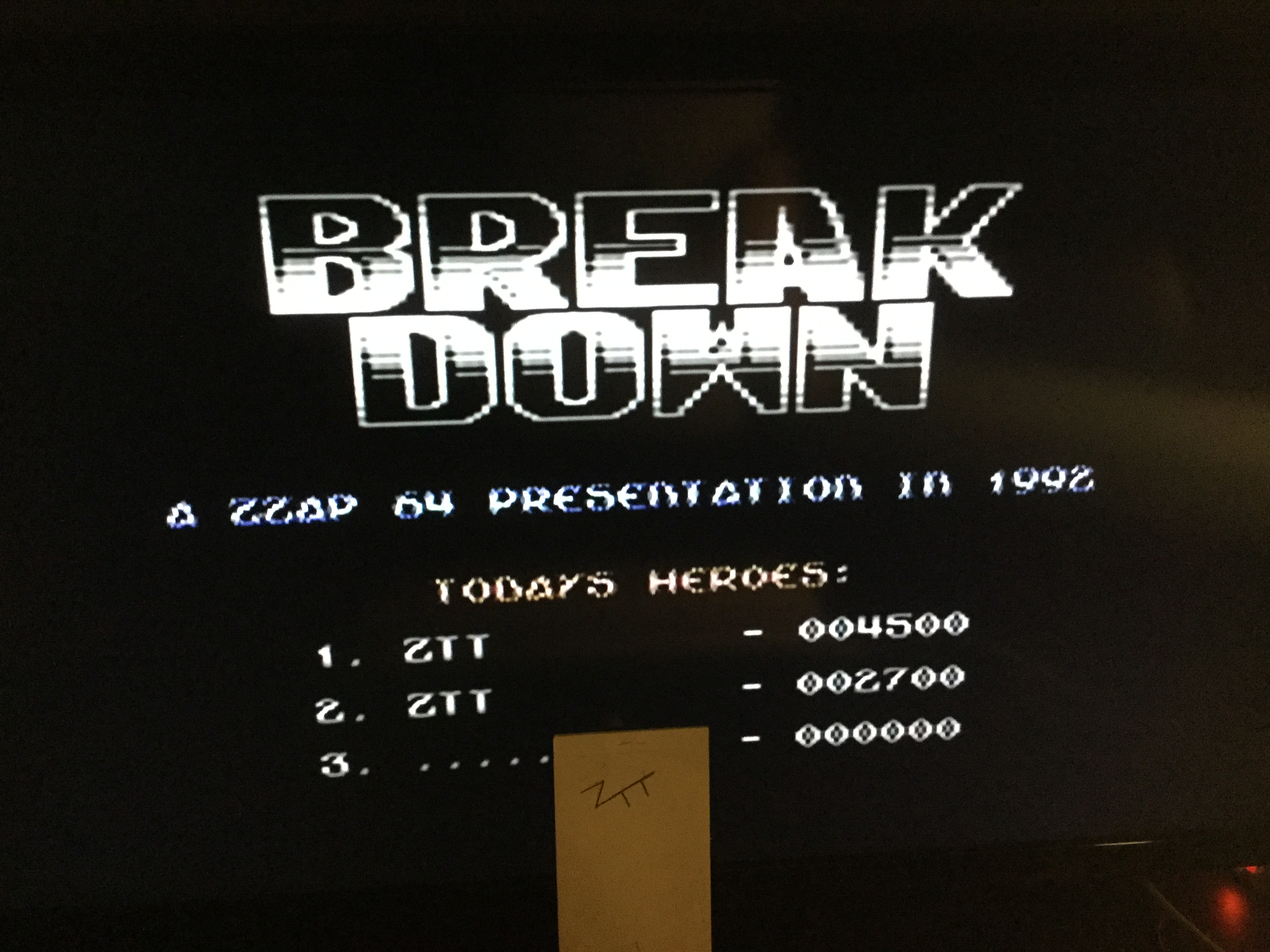 Frankie: Break Down (Commodore 64) 4,500 points on 2019-06-08 16:07:35