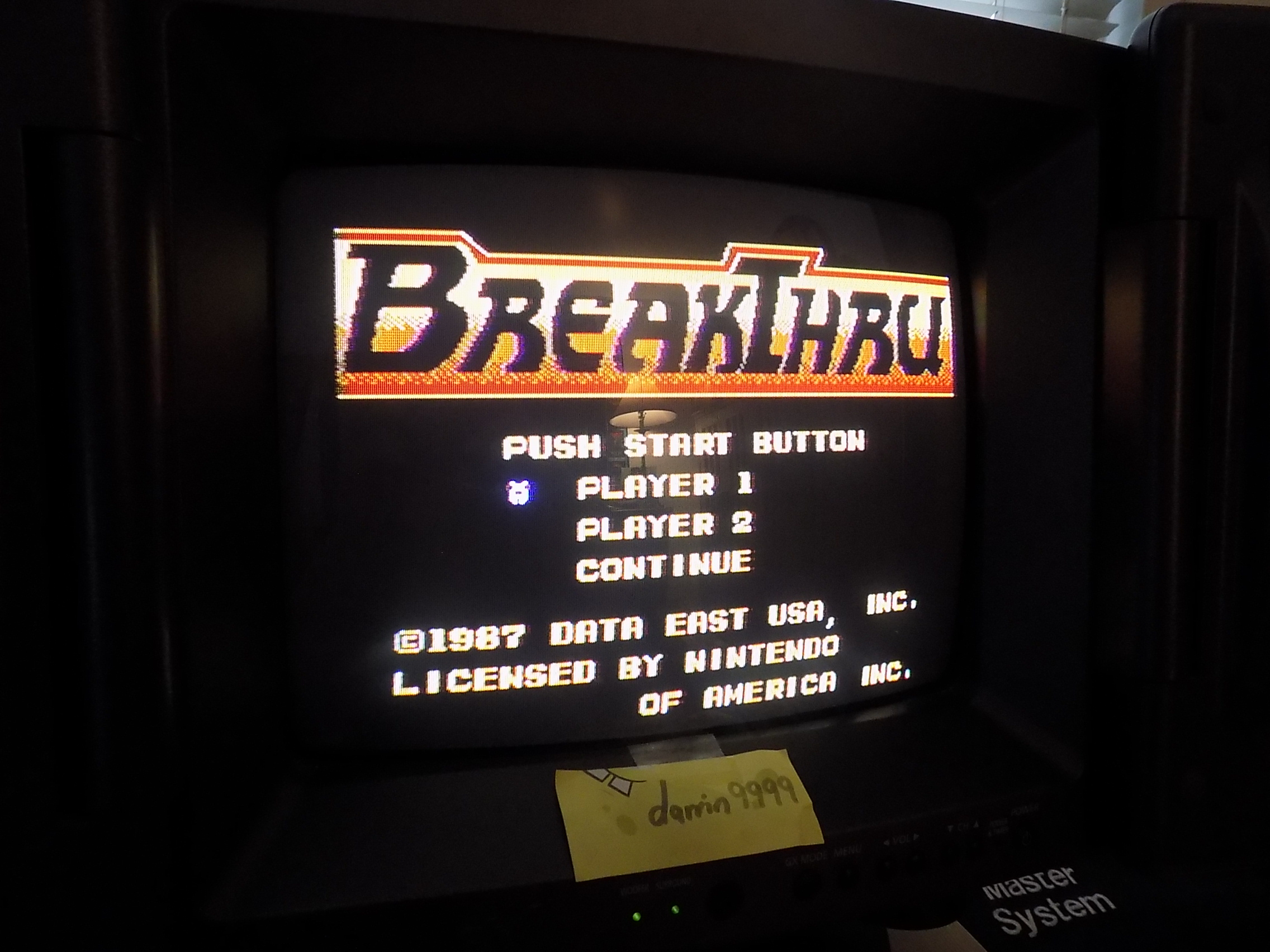 darrin9999: BreakThru (NES/Famicom) 6,800 points on 2018-01-27 12:03:13