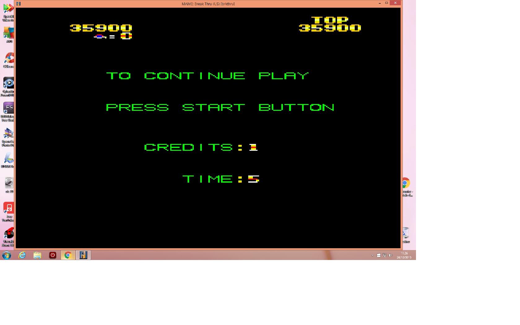lenny2571: BreakThru [brkthru] (Arcade Emulated / M.A.M.E.) 35,900 points on 2015-12-26 04:28:28