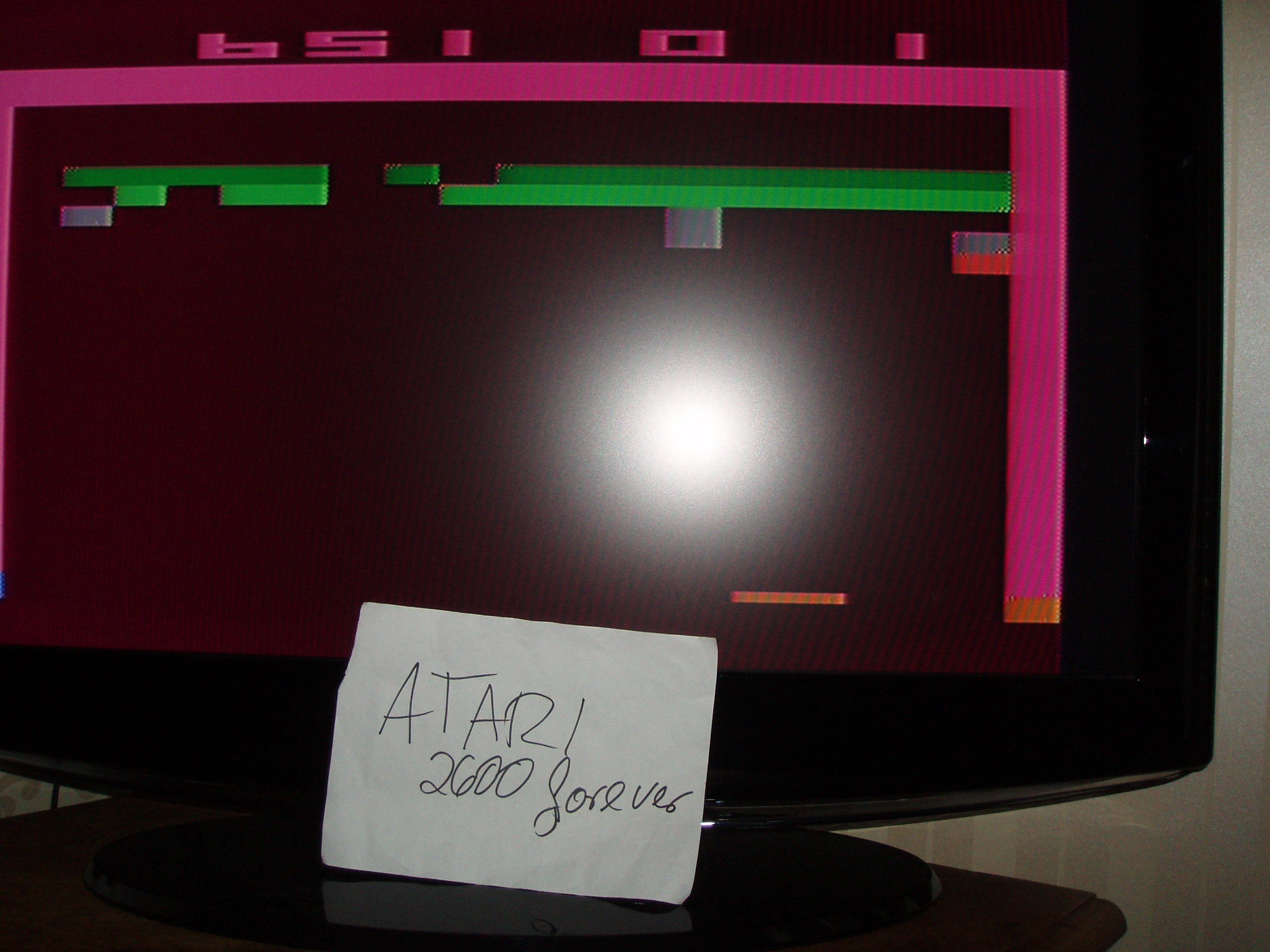 atari2600forever: Breakout: Game 1 (Atari 2600 Novice/B) 651 points on 2018-04-30 08:51:10
