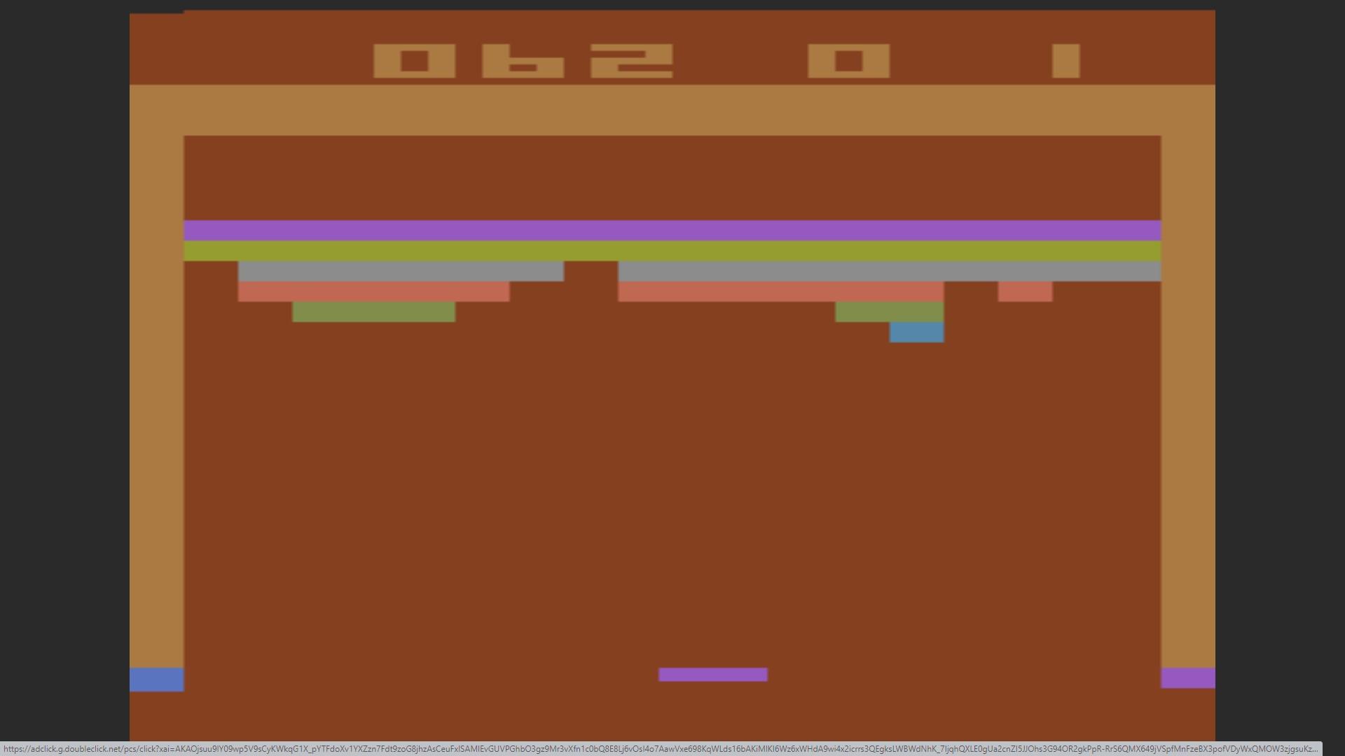 AkinNahtanoj: Breakout: Game 1 (Atari 2600 Emulated Novice/B Mode) 62 points on 2020-10-13 14:34:16