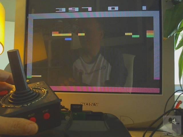GTibel: Breakout: Game 1 [Expert] (Jakks Pacific Atari TV Joystick) 397 points on 2019-09-14 04:07:20