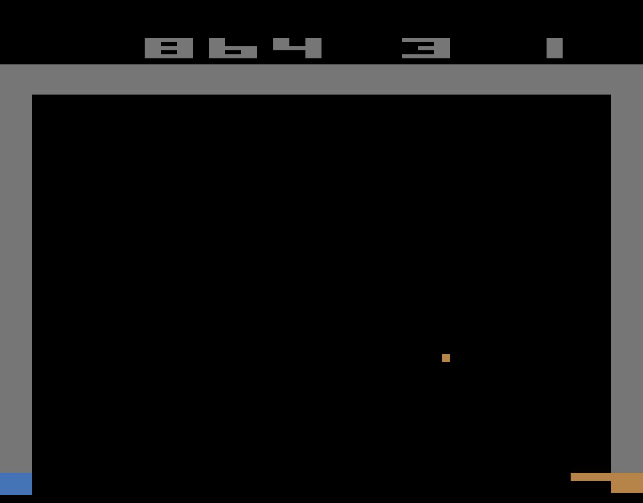 TheTrickster: Breakout: Game 10 (Atari 2600 Emulated Novice/B Mode) 864 points on 2016-06-15 06:35:22