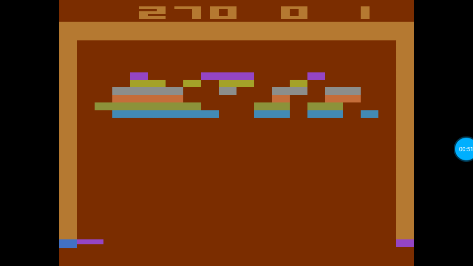 omargeddon: Breakout: Game 11 (Atari 2600 Emulated Expert/A Mode) 270 points on 2018-07-14 01:18:26