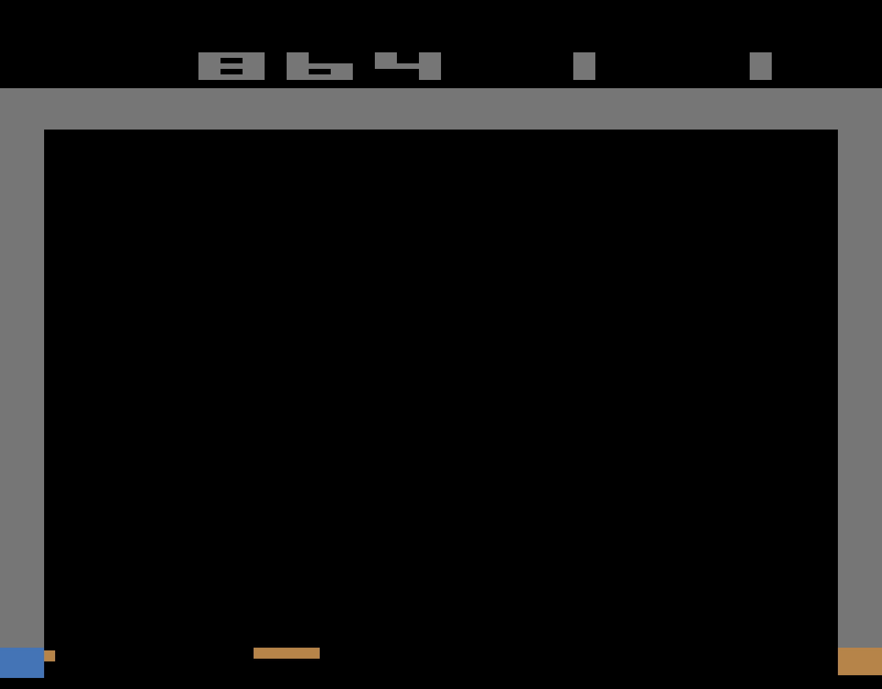 TheTrickster: Breakout: Game 11 (Atari 2600 Emulated Novice/B Mode) 864 points on 2016-06-15 06:36:50