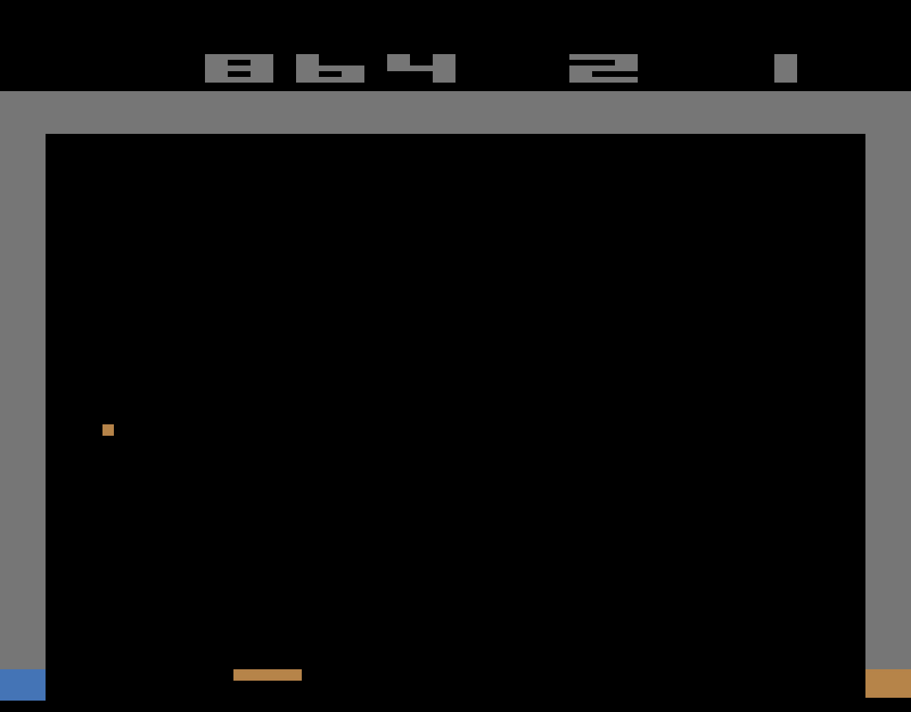 TheTrickster: Breakout: Game 12 (Atari 2600 Emulated Novice/B Mode) 864 points on 2016-06-15 06:38:25