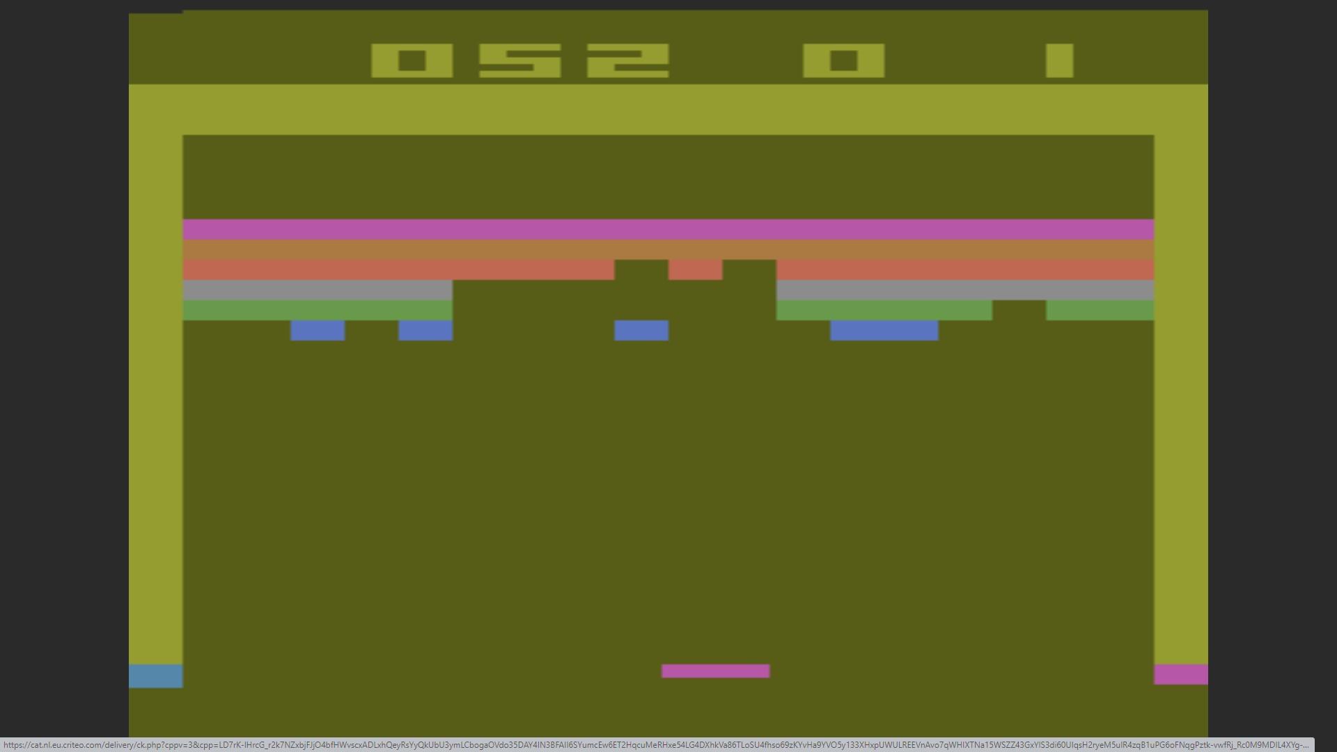 AkinNahtanoj: Breakout: Game 3 (Atari 2600 Emulated Novice/B Mode) 52 points on 2020-10-13 15:58:50