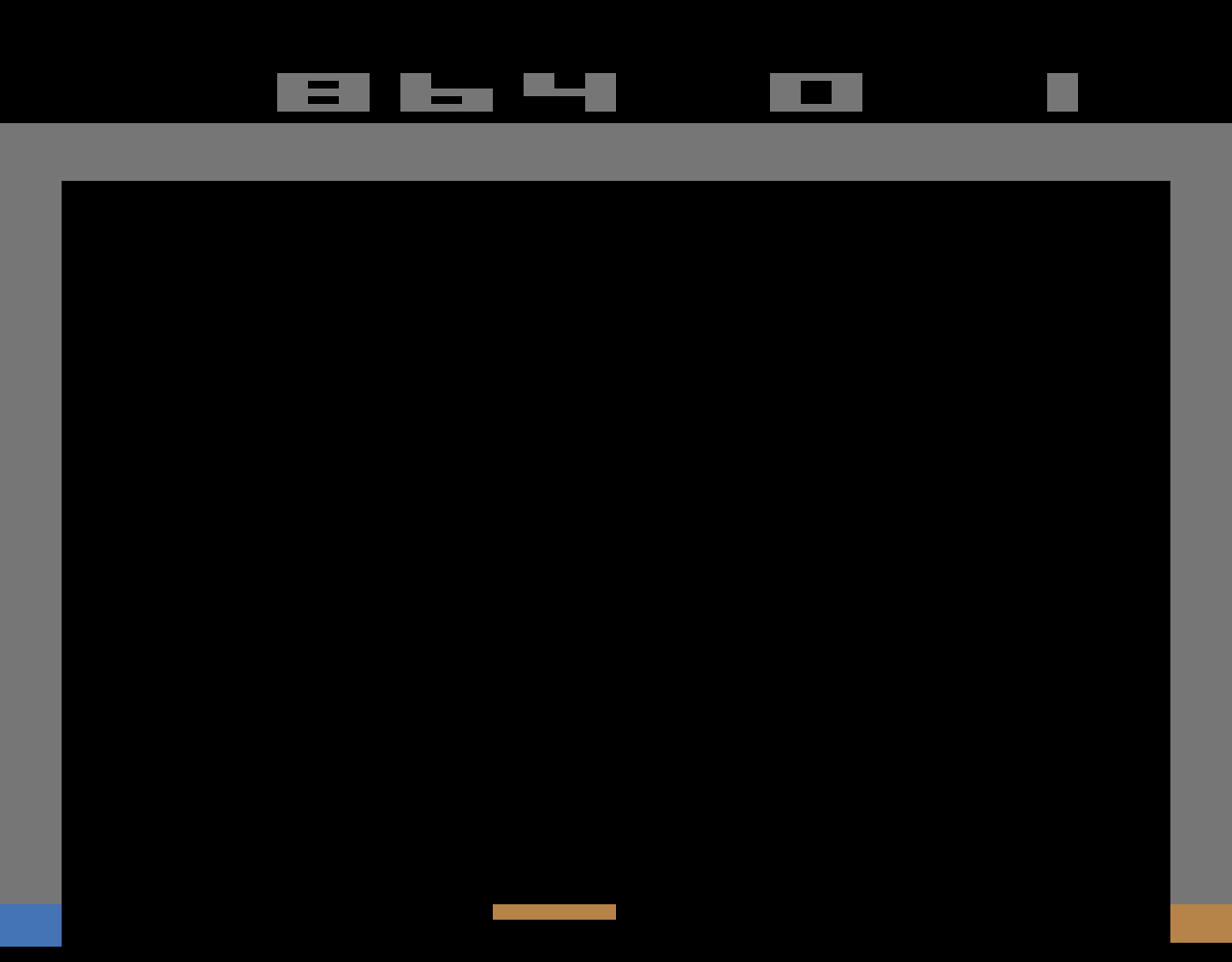 TheTrickster: Breakout: Game 4 (Atari 2600 Emulated Novice/B Mode) 864 points on 2016-06-12 06:30:49