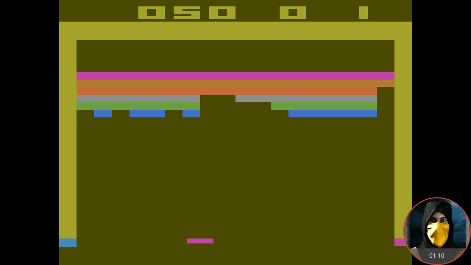 omargeddon: Breakout: Game 5 (Atari 2600 Emulated Expert/A Mode) 50 points on 2018-05-21 18:53:20