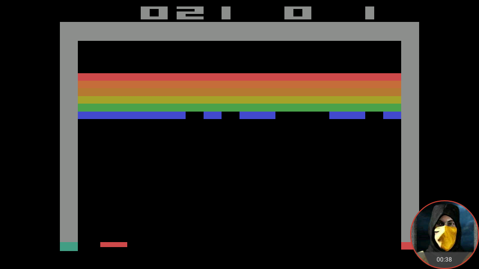 omargeddon: Breakout: Game 6 (Atari 2600 Emulated Expert/A Mode) 21 points on 2018-05-21 18:55:50