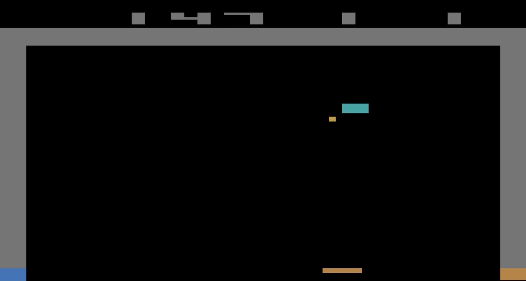 TheTrickster: Breakout: Game 6 (Atari 2600 Emulated Novice/B Mode) 147 points on 2016-06-15 06:23:32