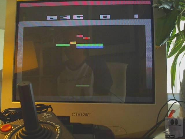 GTibel: Breakout (Jakks Pacific Atari TV Joystick) 836 points on 2019-09-14 03:41:02