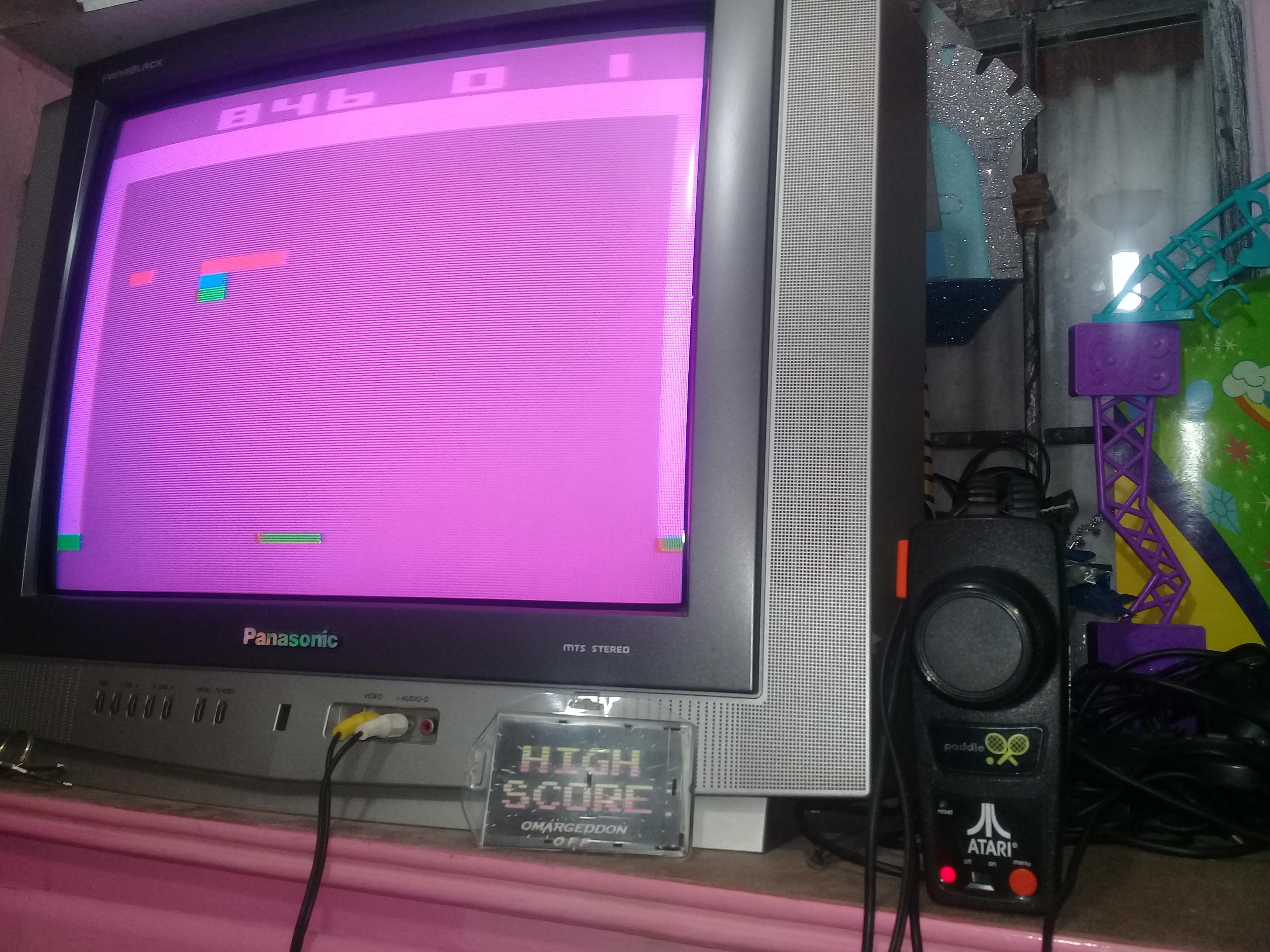 omargeddon: Breakout (Jakks Pacific Atari TV Paddle) 846 points on 2019-01-13 19:27:02