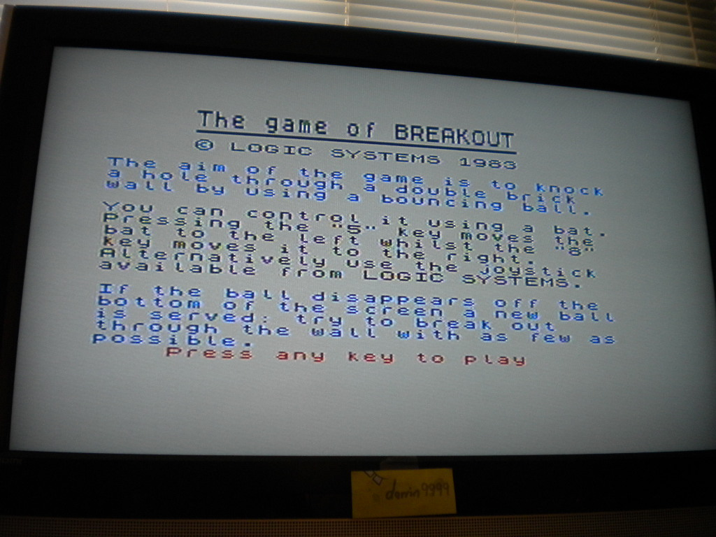 Breakout [Pi Software - Author: Logic Systems] 9 points