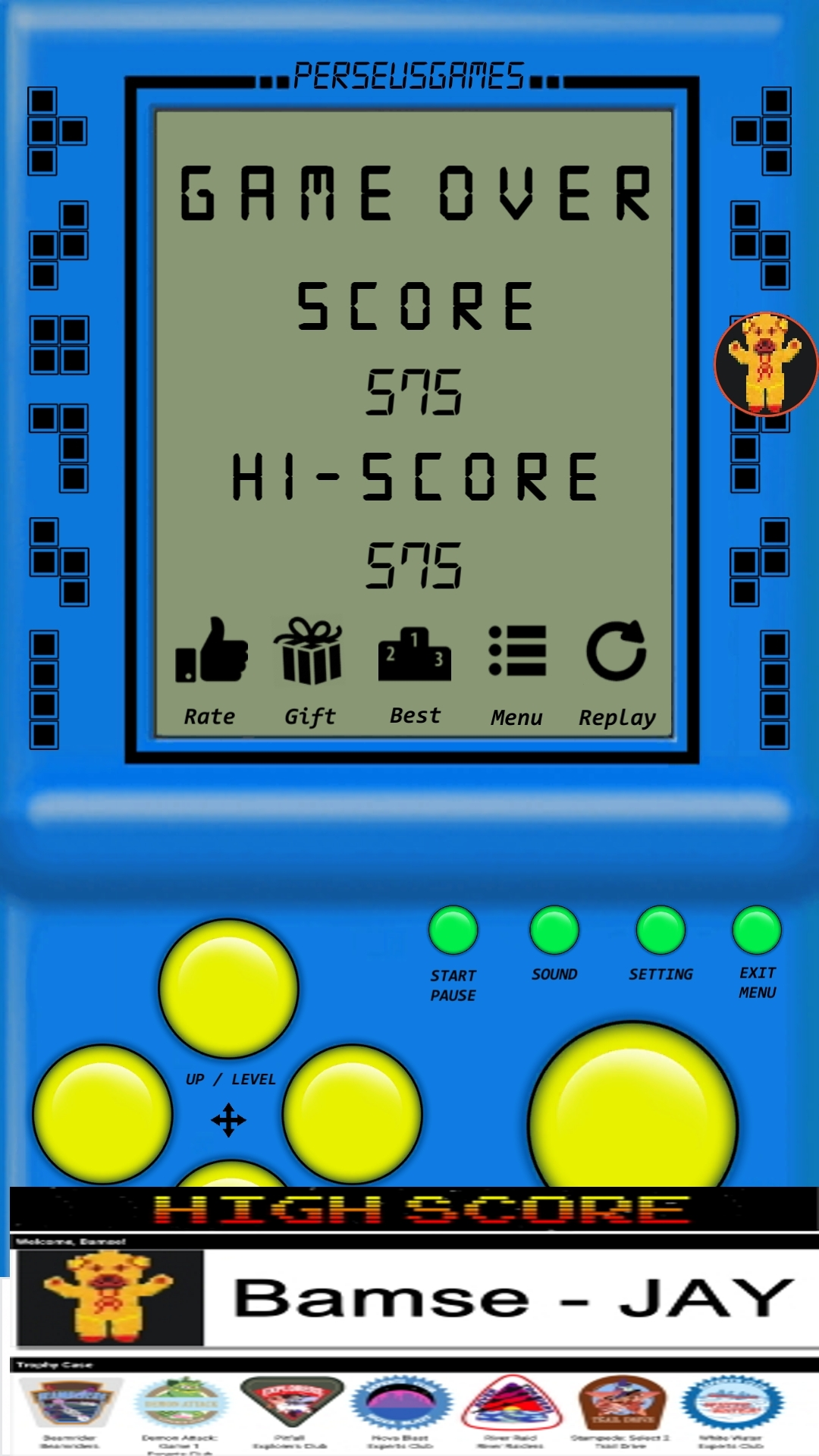 Bamse: Brick Game: Game H (Android) 575 points on 2019-12-12 15:01:16