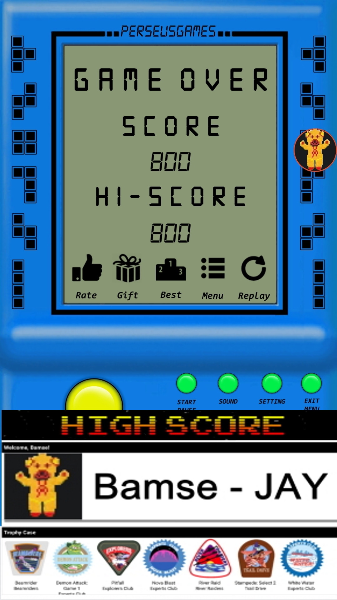 Bamse: Brick Game: Game S (Android) 800 points on 2019-12-30 17:35:32