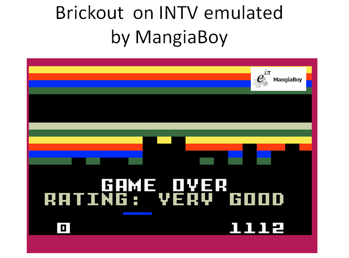 MangiaBoy: Brickout (Intellivision Emulated) 1,112 points on 2016-03-01 08:40:44