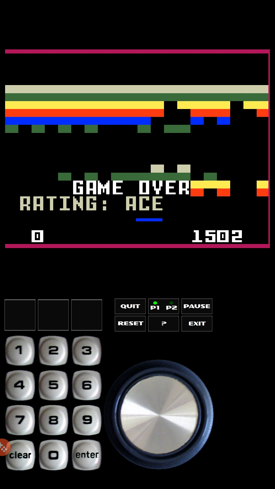 Bamse: Brickout (Intellivision Emulated) 1,502 points on 2019-02-16 07:15:25