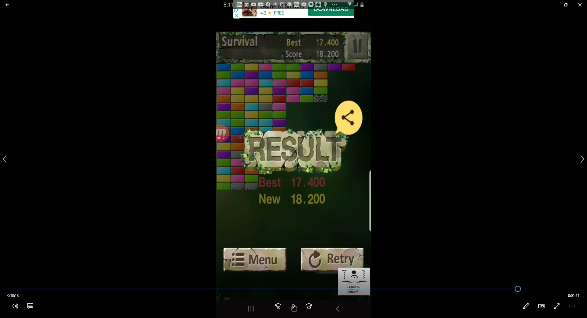 speedy4759123: Bricks Breaker King: Survival (Android) 18,200 points on 2020-04-06 20:12:59