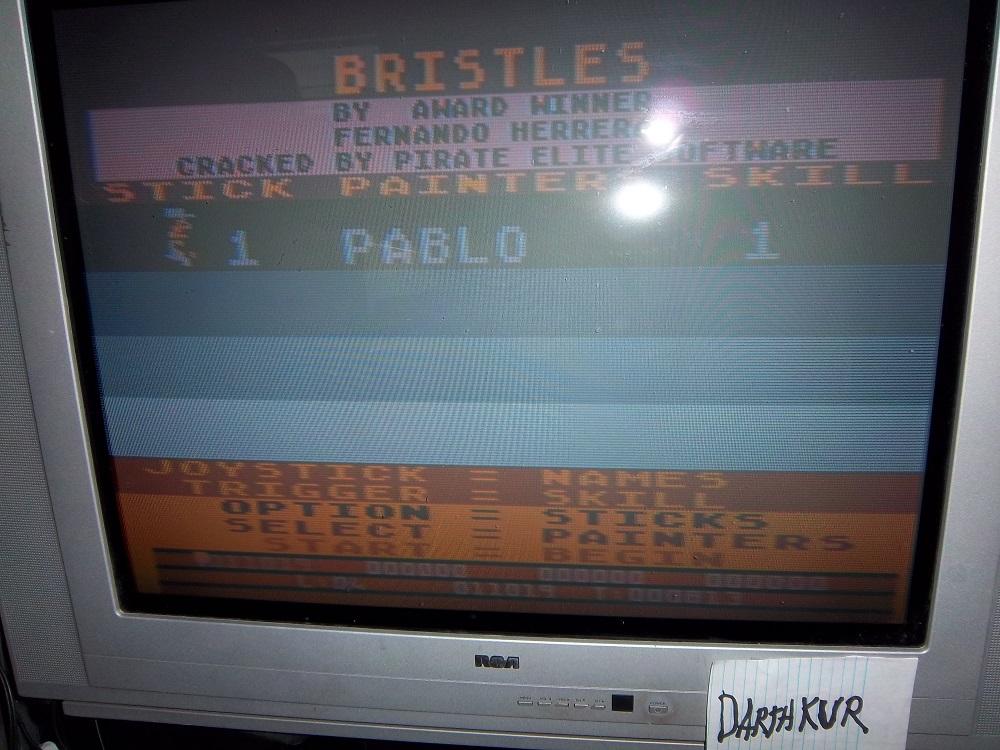 darthkur: Bristles (Atari 400/800/XL/XE) 11,019 points on 2016-04-15 16:45:22