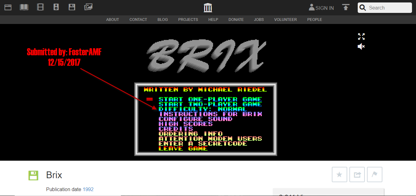 FosterAMF: Brix [Normal] (PC Emulated / DOSBox) 96,450 points on 2017-12-15 15:46:36
