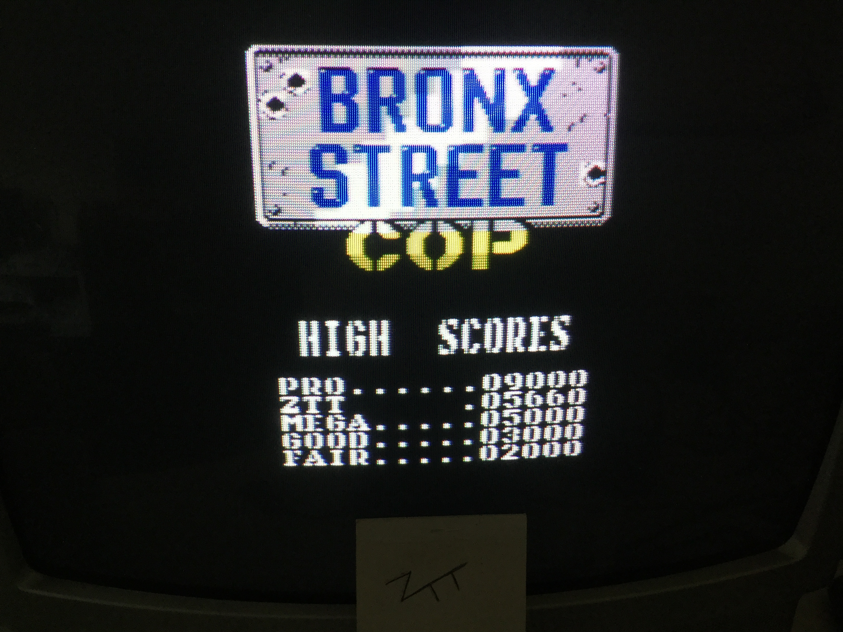 Frankie: Bronx Street Cop [Joystick / Keyboard Version] (ZX Spectrum) 5,660 points on 2018-09-23 03:45:59