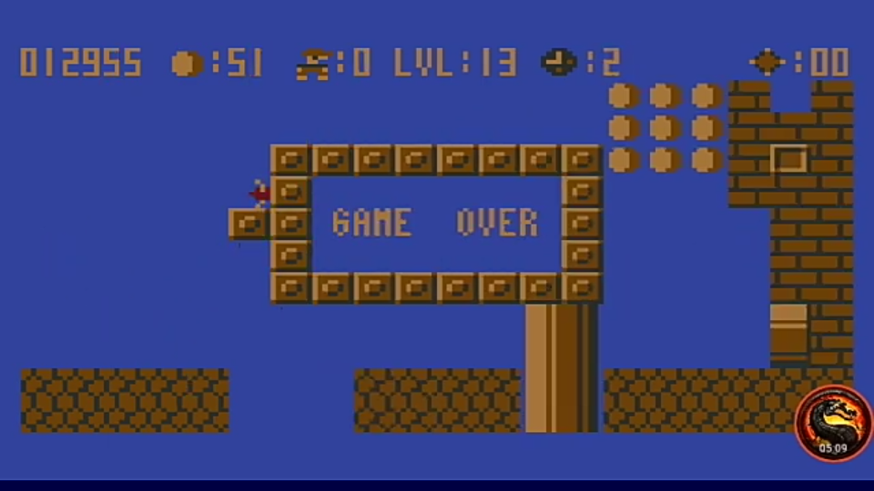 omargeddon: Bros (Atari 400/800/XL/XE Emulated) 12,955 points on 2020-12-25 11:04:49