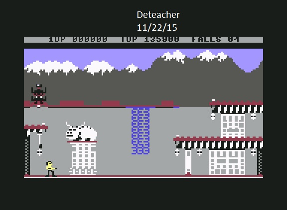 Deteacher: Bruce Lee (Commodore 64 Emulated) 135,900 points on 2015-11-22 19:18:12
