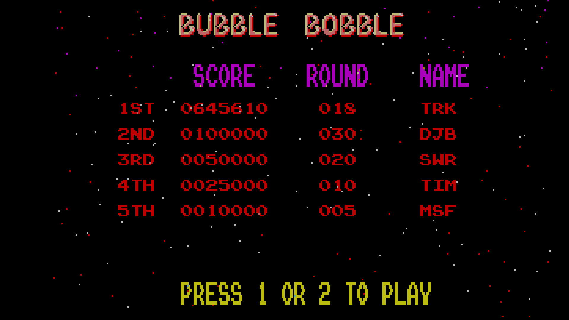 TheTrickster: Bubble Bobble (Amiga Emulated) 645,610 points on 2015-10-31 04:22:58