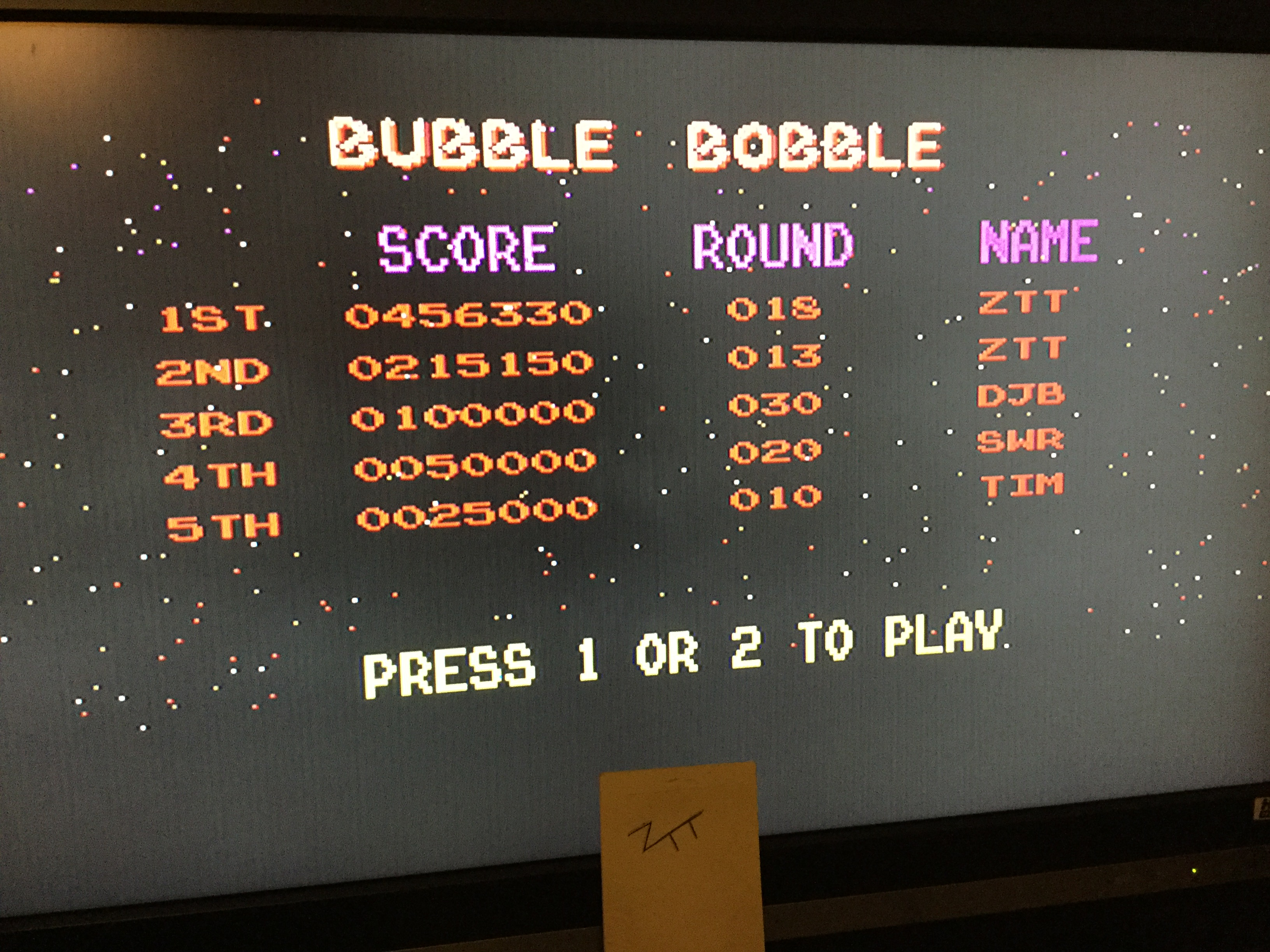 Bubble Bobble 456,330 points