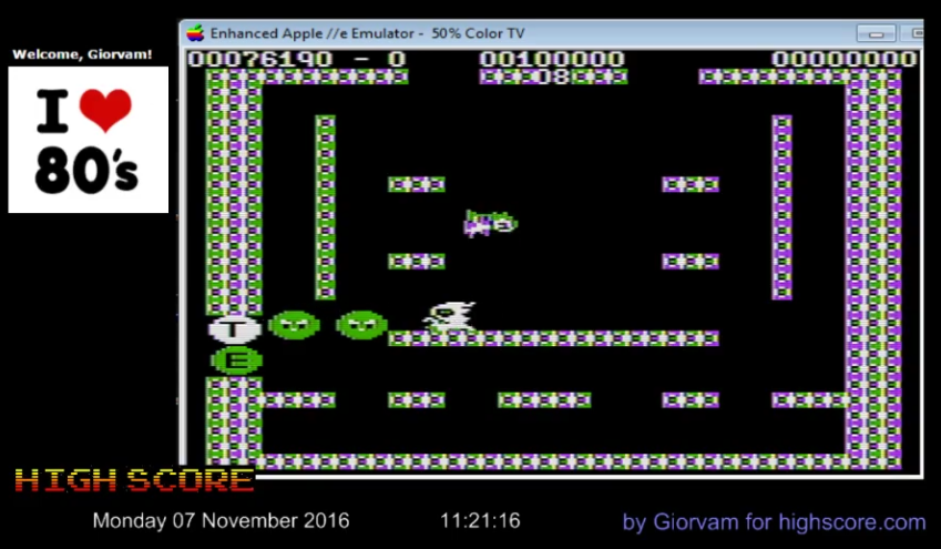 Giorvam: Bubble Bobble (Apple II Emulated) 76,190 points on 2016-11-07 03:37:12