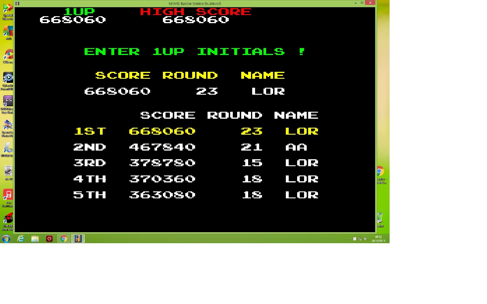 lenny2571: Bubble Bobble (Arcade Emulated / M.A.M.E.) 668,060 points on 2015-12-20 02:54:19