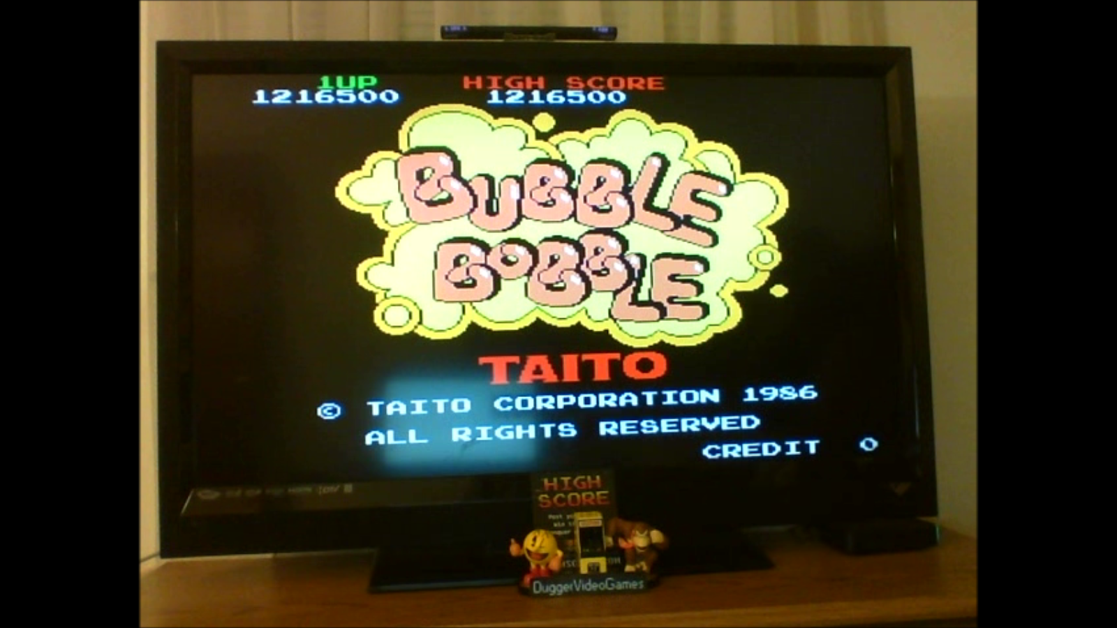 DuggerVideoGames: Bubble Bobble (Arcade Emulated / M.A.M.E.) 1,216,500 points on 2017-02-19 04:02:54