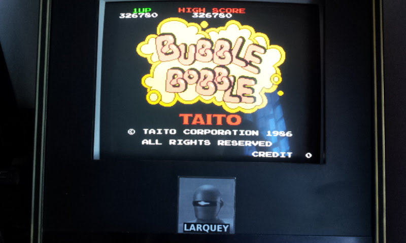 Larquey: Bubble Bobble (Arcade Emulated / M.A.M.E.) 326,780 points on 2017-12-24 04:45:26