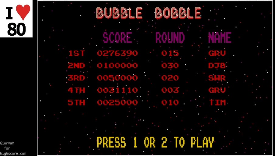 Giorvam: Bubble Bobble (Atari ST Emulated) 276,390 points on 2019-12-22 12:14:15