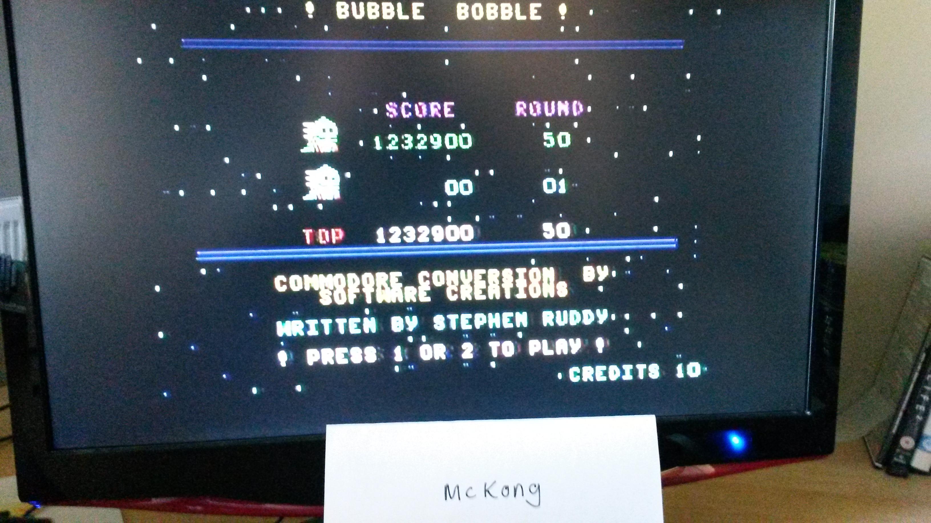 Bubble Bobble 1,232,900 points