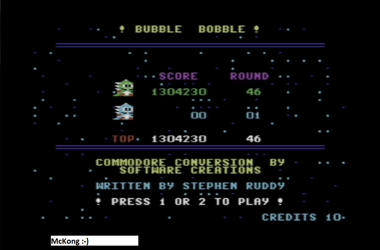 Bubble Bobble 1,304,230 points