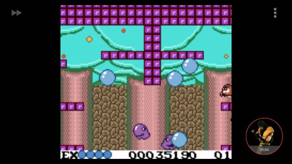 omargeddon: Bubble Bobble (Game Boy Color Emulated) 35,190 points on 2018-01-07 22:04:43