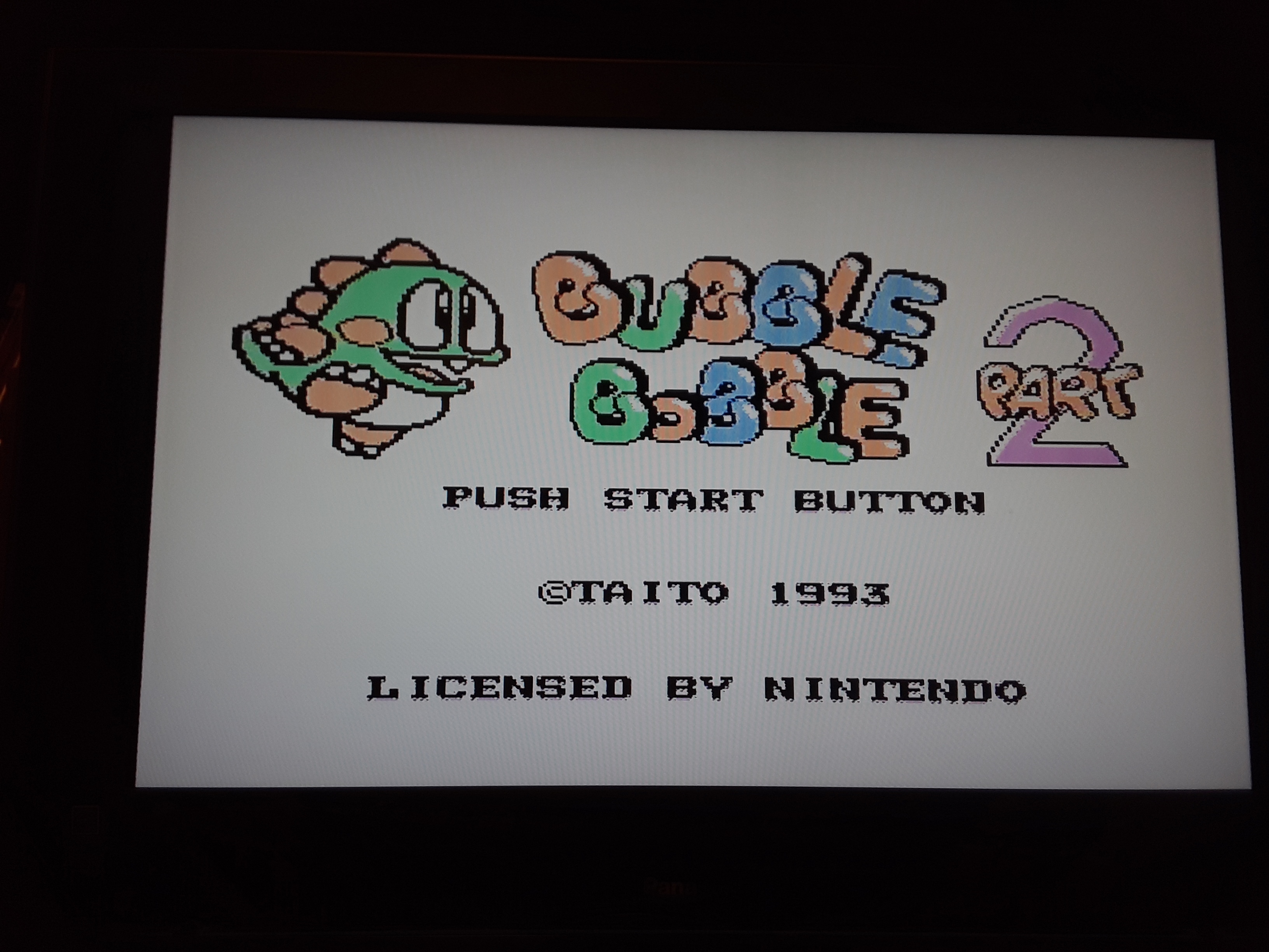 Bubble Bobble Part 2 44,800 points