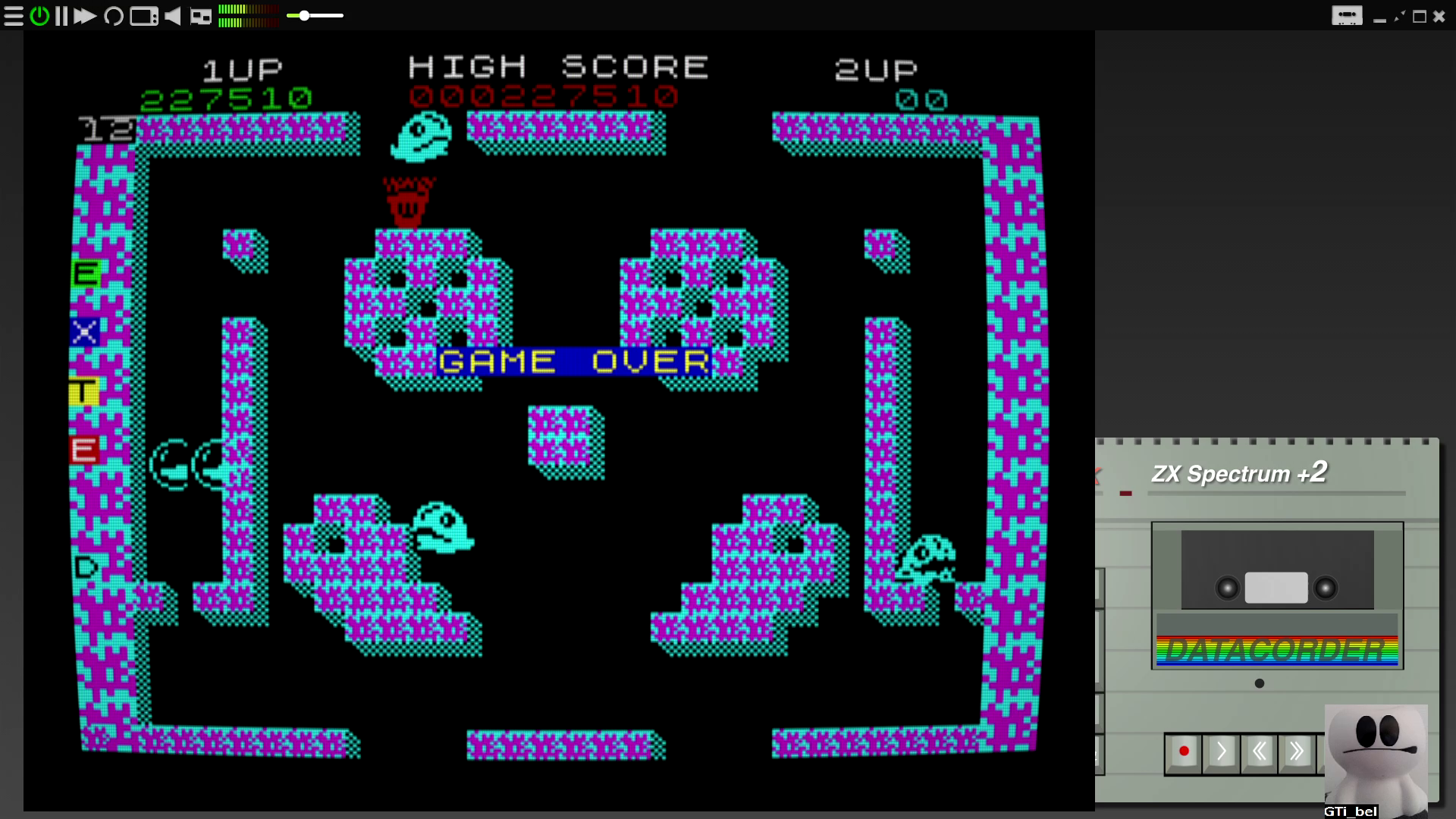 GTibel: Bubble Bobble (ZX Spectrum Emulated) 227,510 points on 2020-08-08 08:35:36