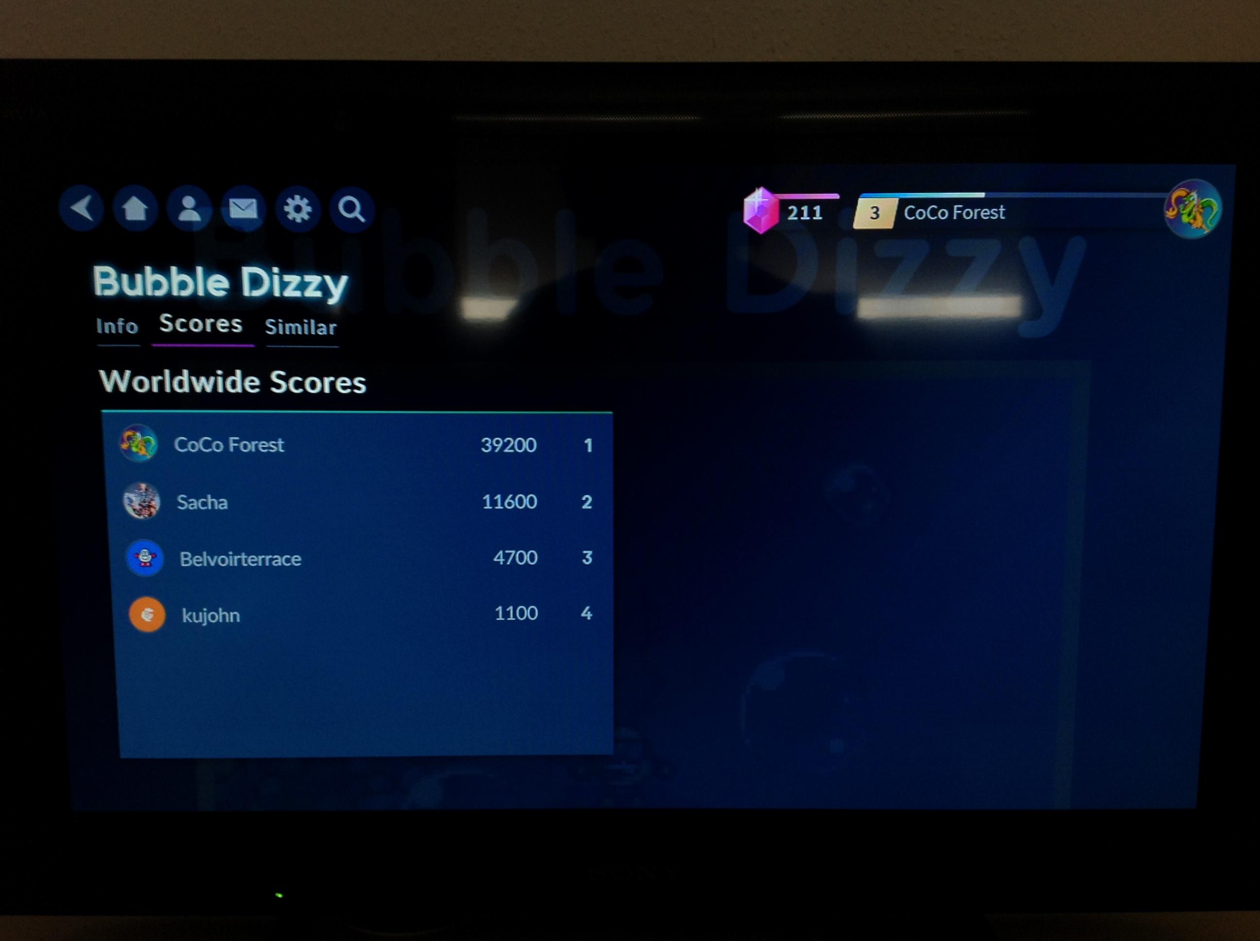 Bubble Dizzy 39,200 points