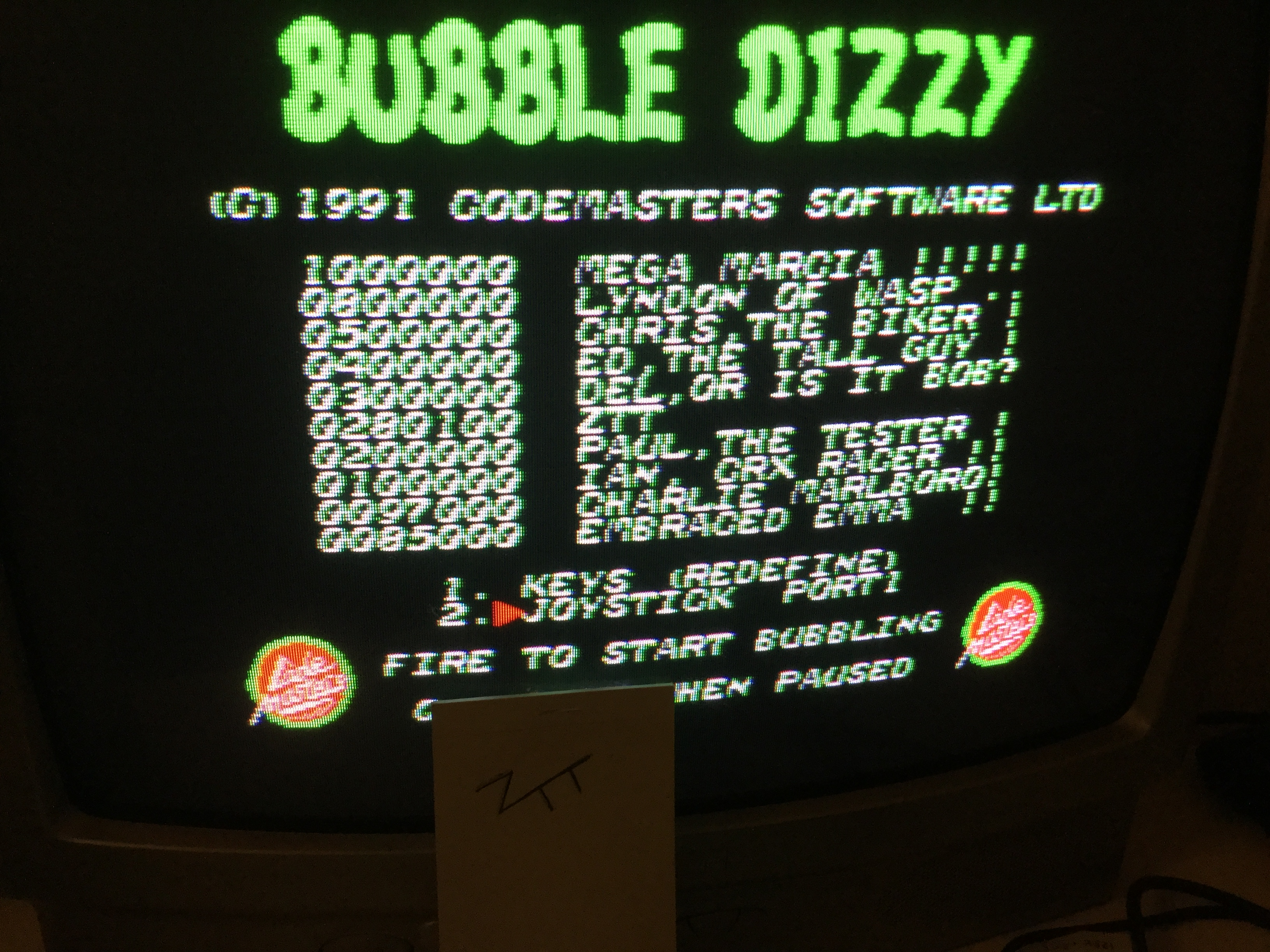Frankie: Bubble Dizzy (Amstrad CPC) 280,100 points on 2017-01-25 11:02:49