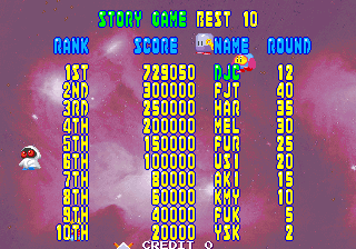 Bubble Memories: The Story Of Bubble Bobble III [bubblem] 729,050 points